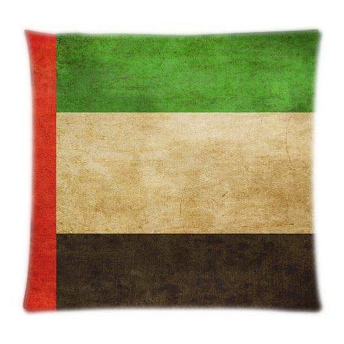 (Alexander Custom Vereinigten Arabischen Emirate Flagge Home Textile Zwei Seiten Kissen Fall Überwurf Bildschirmschutz bedeckt, 18x18inch)
