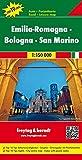 Emilia-Romagna - Bologna - San Marino, Autokarte 1:150.000, Top 10 Tips: Toeristische wegenkaart 1:150 000 (freytag & berndt Auto + Freizeitkarten) -