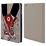 Head Case Designs Offizielle LouiJoverArt Schuhe Rote Tinte Brieftasche Handyhülle aus Leder für iPad Mini 1 / Mini 2 / Mini 3