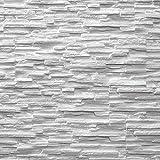 EPS wandpanelen - Piepschuim wandbedekking - Lichte steenstrips (wit)