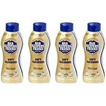 Bar Keepers Friend Soft Cleanser for Stainless Steel / Porcelain / Ceramic / Tile / Copper - 13 Oz. Each - 4 Pack by Bar Keeper's Friend