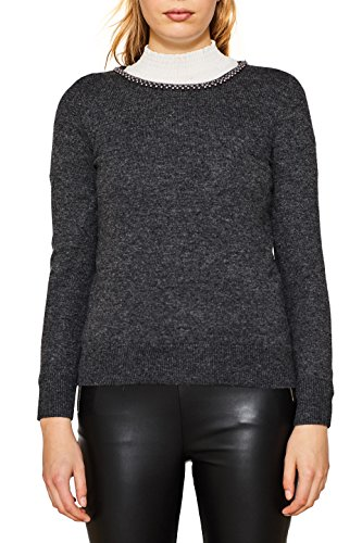 ESPRIT Collection Damen Pullover 117EO1I017, Grau (Dark Grey 5 024), Medium (Medium Grey Collection)