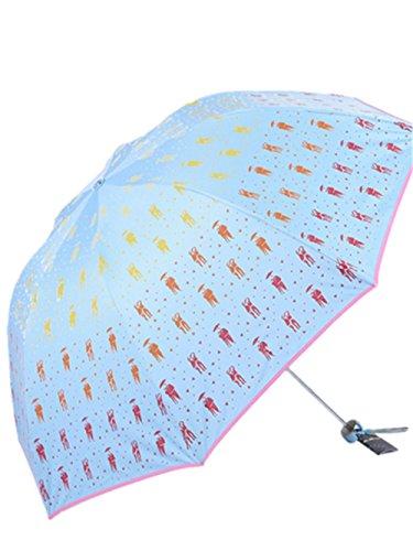 HYHAN Mode Regenschirm Damen Kleine frische UV-Sonnenschutz Wind Resistance Regenschirm (Sunny Day oder einem regnerischen Tag verwenden kann) , blue , 57cm*8k