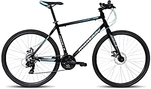 Montra Downtown(2017) 700X35C 21 Speed Dual Disc Brake Stylish Sporty Black & Sky Blue Alloy Bike/Bicycle(18 inches)