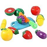 Vococal-Set de juguete de comida para niños y bebés,Corte las frutas y vegetales