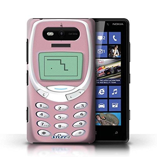 Etui / Coque pour Nokia Lumia 820 / Nokia 3310 vert conception / Collection de Portables rétro Nokia 3310 rose
