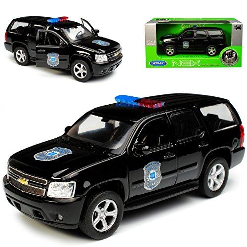 Welly Chevrolet Chevy Tahoe GMT921 SUV Schwarz Police Polizei 3. Generation 2006-2013 ca 1/43 1/36-1/46 Modell Auto (Gmt Auto)