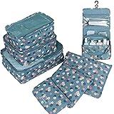 GCBTECH Set di 7 Set di Organizer per Valigie Borsoni Abiti per Viaggio, Compressione Sacchetti Bag in sacchetto dell'organiz