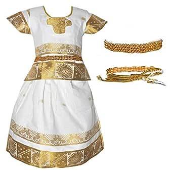 Amirtha Fashion Girls Traditional Lehenga Choli KERALA SAME TO SAME PATTU WITH WAIST BELT