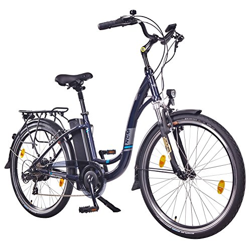 NCM Rome,26″ Zoll Elektrofahrrad Herren/Damen Unisex Pedelec,E-Bike,City Rad, 36V 250W 13Ah Lithium-Ionen-Akku mit 468Wh, dunkel blau