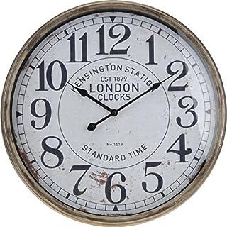 AiO-S - OK Bahnhofsuhr Wanduhr 50cm Vintage Retro Look Anitk Clock