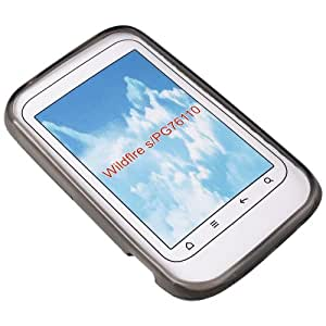 Transparent black Silicon Case Handy Schutz Hülle Tasche für HTC Wildfire S