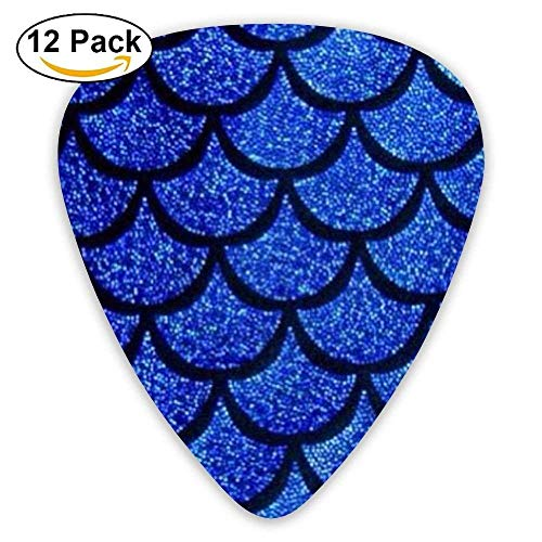 Mermaid Tail Scale Celluloid Guitar Picks 12 Packs (Pro Mermaid Tails)