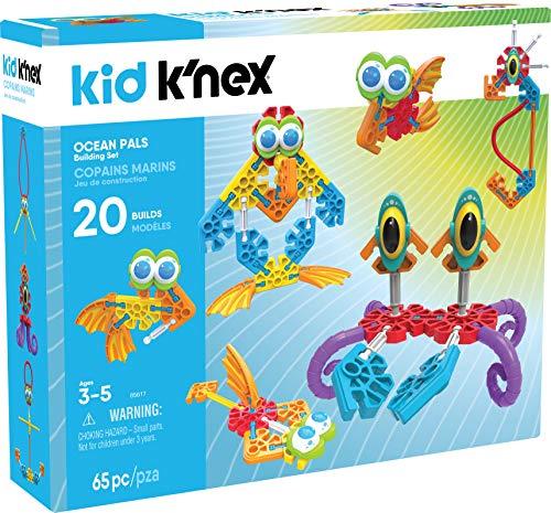 K'Nex Kid Set de construcción de Amigos Marinos para niños a Partir de 3 años, Juguete Educativo Preescolar, 65 Piezas
