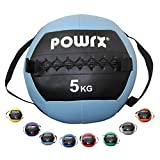 POWRX Gewichtsball inkl. Griff Band I Medizinball Wall Ball 1-8 kg I Robuster Medizin Fitnessball...
