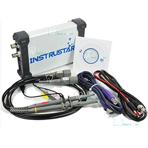 Test Equipment PC-basierte 3in1USB Virtual Digital-Oszilloskop 2CH 20MHz 48MS/s Spektrumanalysator Datenlogger