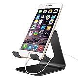 Barsone Tablet Stand, Cell Phone Stand, Universal Desktop mobile phone Holder, Aluminium Metal Mobile Phone Tablet PC stand Table Desk Mount Stand Holder (Black)