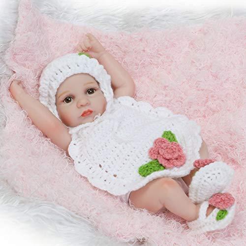 EdBerk74 10 Zoll Silikon Reborn Babypuppen lebendig lebensechte offene Augen Puppen realistische Bebe Reborn Babys Mädchen Spielzeug (Baby-puppen Bewegen Lebensechte)