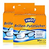 Swirl Brillen-Putztücher 30 einzeln verpackte Tücher in Spenderbox - Anti-Beschlag-Effekt - Extra weich und schonend - Fettlösend - Streifenfrei (2er Pack)