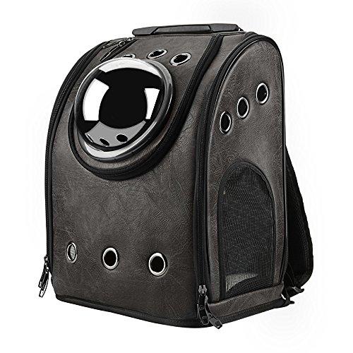 Imagen de texsens burbuja  pet carriers innovadores de viajero viajes aéreos aprobados transportista conmutable panel de malla para gatos y perros one size negro