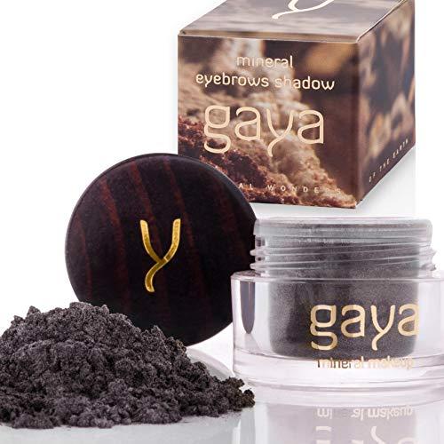 Gaya Cosmetics Augenbrauenpuder Brow Filler - Augenbrauen Farben Pulver 100% Natürliches Langanhaltendes Vegan Mineral Makeup (F99 Schwarz) -