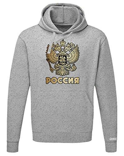 WM 2018 - POCCNR - RUSSLAND RUSSIA - HERREN UND DAMEN HOODIE Graumeliert