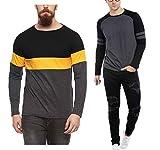 #10: Veirdo Printed Full Sleeve Black/Yellow Round Neck Men's Cotton Tshirt-Combo tshirt-pack of 2