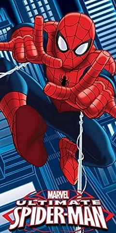 Officiel Marvel Ultimate Spiderman Web Thwip Coton Plage Serviette de bain