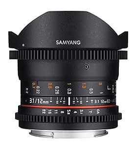 Samyang Objectif Fisheye pour Nikon 12 mm T3.1 Noir