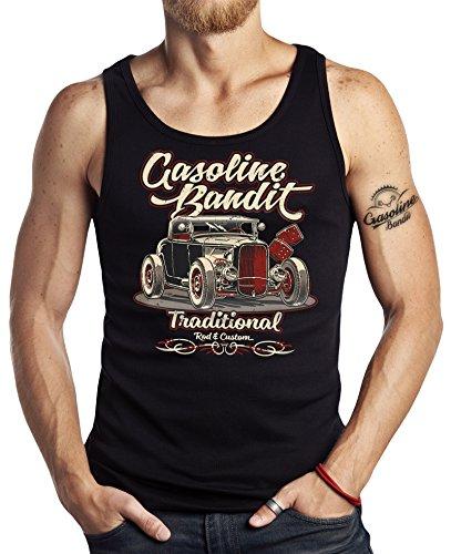 GASOLINE BANDIT Hot-Rod Biker Racer Tank-Top: Traditional Road Custom-M - Custom Tank-top