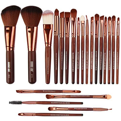 Make Up Pinsel Set 22pcs Holz Professionelles Schminkpinsel Kosmetikpinsel Lidschatten...