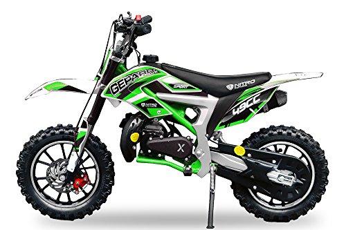 Neu Dirtbike Pocketbike Gepard Sport Edition Easy Starter Tuning Kupplung 15mm Vergaser Mini Cross Crossbike (Grün)