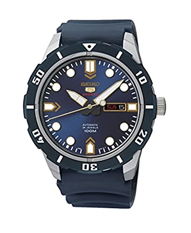 Seiko Herren-Armbanduhr 5 Analog Automatik Kautschuk