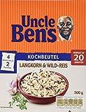 Uncle Ben's Langkorn & Wild-Reis Kochbeutel, 3er Pack (3 x 500g)