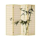 Fine asianliving habitación separador 4paneles lienzo de bambú japonés...