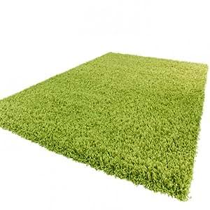 Tapis shaggy longues m ches en vert dimension 60x100 cm cuisine - Tapis shaggy vert anis ...