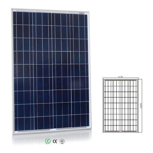 Offgridtec Solar Bausatz 100 wp – 12 V Solaranlage, Solarmodul und Steca Solarladeregler 8A, 002640 - 2