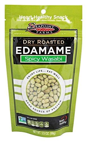 SeaPoint Farms - Wasabi piccante della arrosto asciutto Edamame - 3,5 oz.