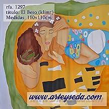 Pañuelo Seda, EL BESO de Klimt