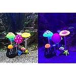 Uniclife Glowing Effect Artificial Mushroom Aquarium Plant Decor Ornament Decoration for Fish Tank Landscape 16