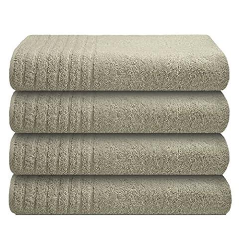 Gallant 4 tlg Handtücher-Set 4 x Handtuch 50x100 cm 100% Baumwolle hell-grau,silber-grau