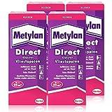 Metylan 200-4 Direct MDD20 Tapetenkleister für Vlies-Tapeten, farblos, 4X 200g