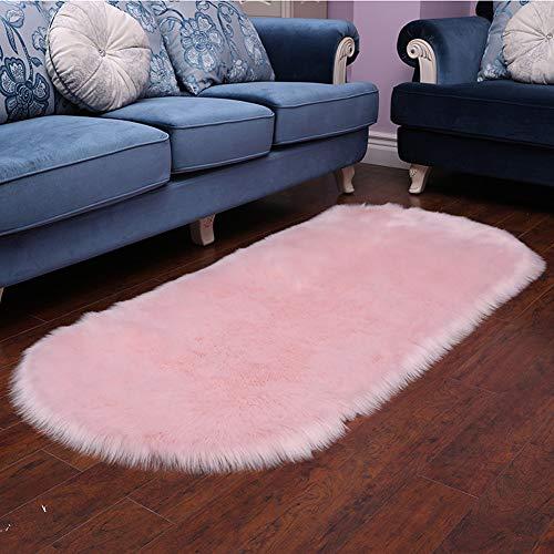 CQ Teppich Kunstpelz Schaffell Rutschfeste Boden Teppich Fluffy Area Teppich Kleine Sofa Matte,Camel,80 * 180cm - Camel Outdoor-teppich