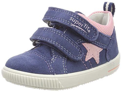 Superfit Baby Mädchen Moppy Sneaker, Blau (Water Multi), 27 EU