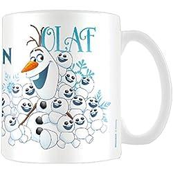"Disney MG23434 8 x 11,5 x 9,5 cm ""Olaf"" congelado taza de cerámica, Multi-color"