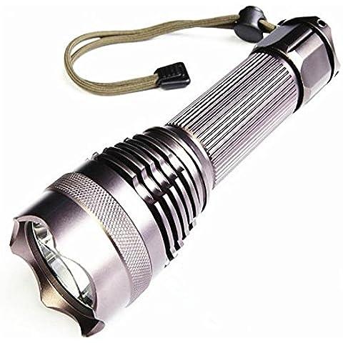 anbit torcia lampada tascabile cree-l2LED e ricaricabile con 5modalità, Super Luminosa corrente ultra-longue portata, diverse opzioni di alimentazione - Vento Fino Chiave