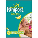 Pampers Baby Dry taille 6 (16 + kg) gros paquet Extra Large 2x44 par paquet