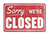 "Sketchfab ""Sorry We Are Closed"" Wall Sign (Wooden, 30 cm x 20 cm)"