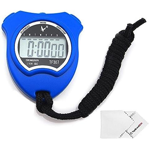 LEAP Cronómetro Digital Timer Deporte con Alarma Calendario Azul para Fitness