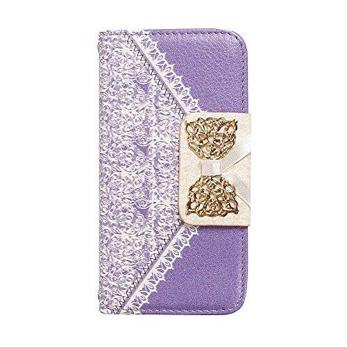 """D9Q Flip Cover Wallet Card Slot Stehen Luxus PU Leder Case Hülle Protector für iPhone 6 4,7"""" !!Lila"""